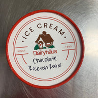 a quart of chocolate rockton road ice cream