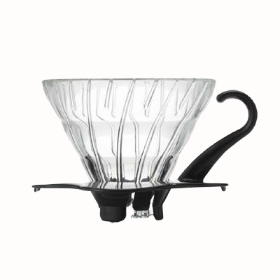 V60 Glass Dripper 02 - BLACK