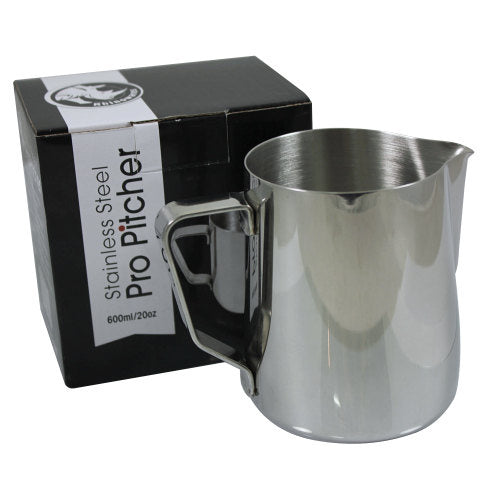 Rhinowares Professional Milk Pitcher - 600ml/20oz - Stainless