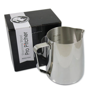 Rhinowares Professional Milk Pitcher - 950ml/20oz - Stainless