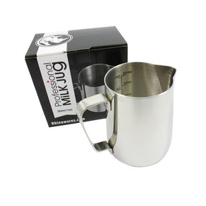 Rhinowares Professional Milk Pitcher - 360ml/20oz - Stainless