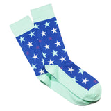 BLUE STAR PRINT SOCKS