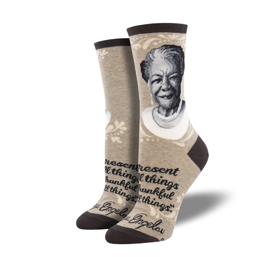 MAYA ANGELOU PORTRAIT SOCKS