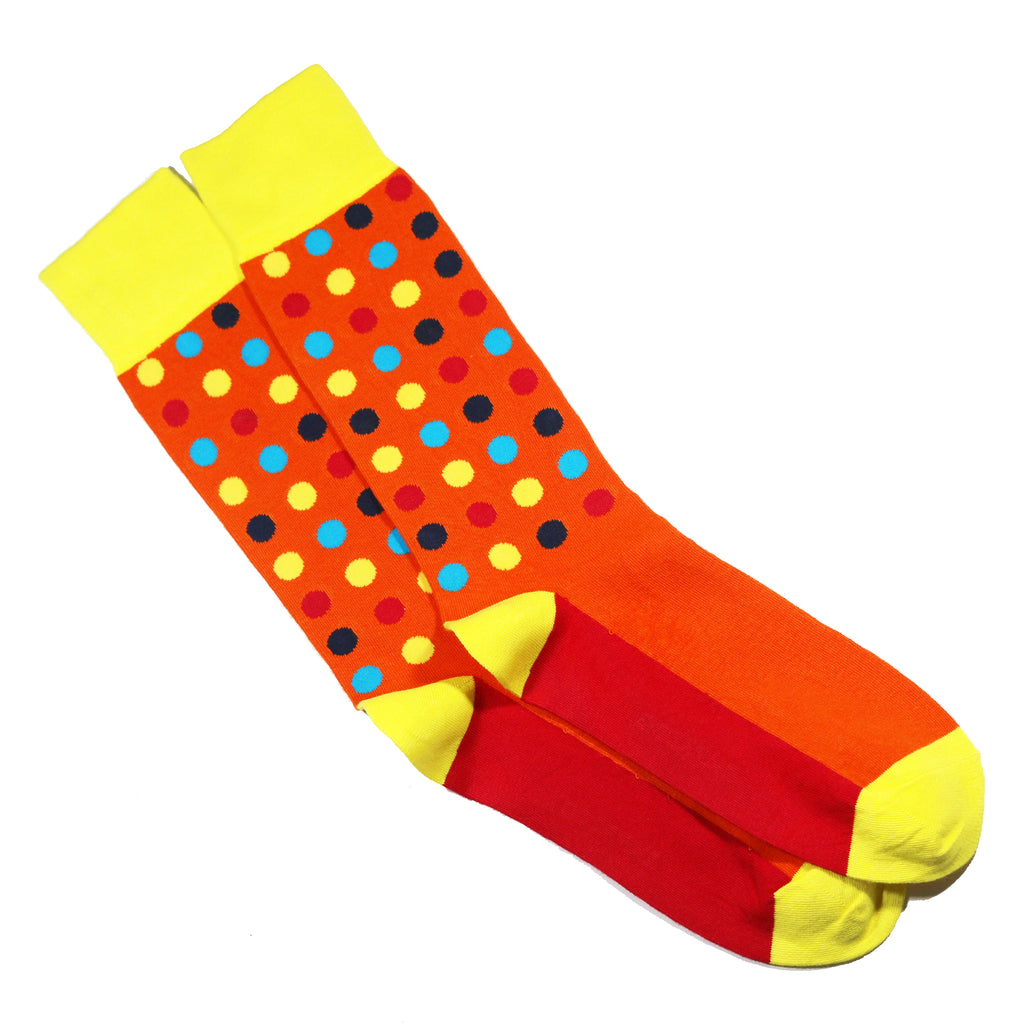 MULTICOLOR POLKA DOT SOCKS