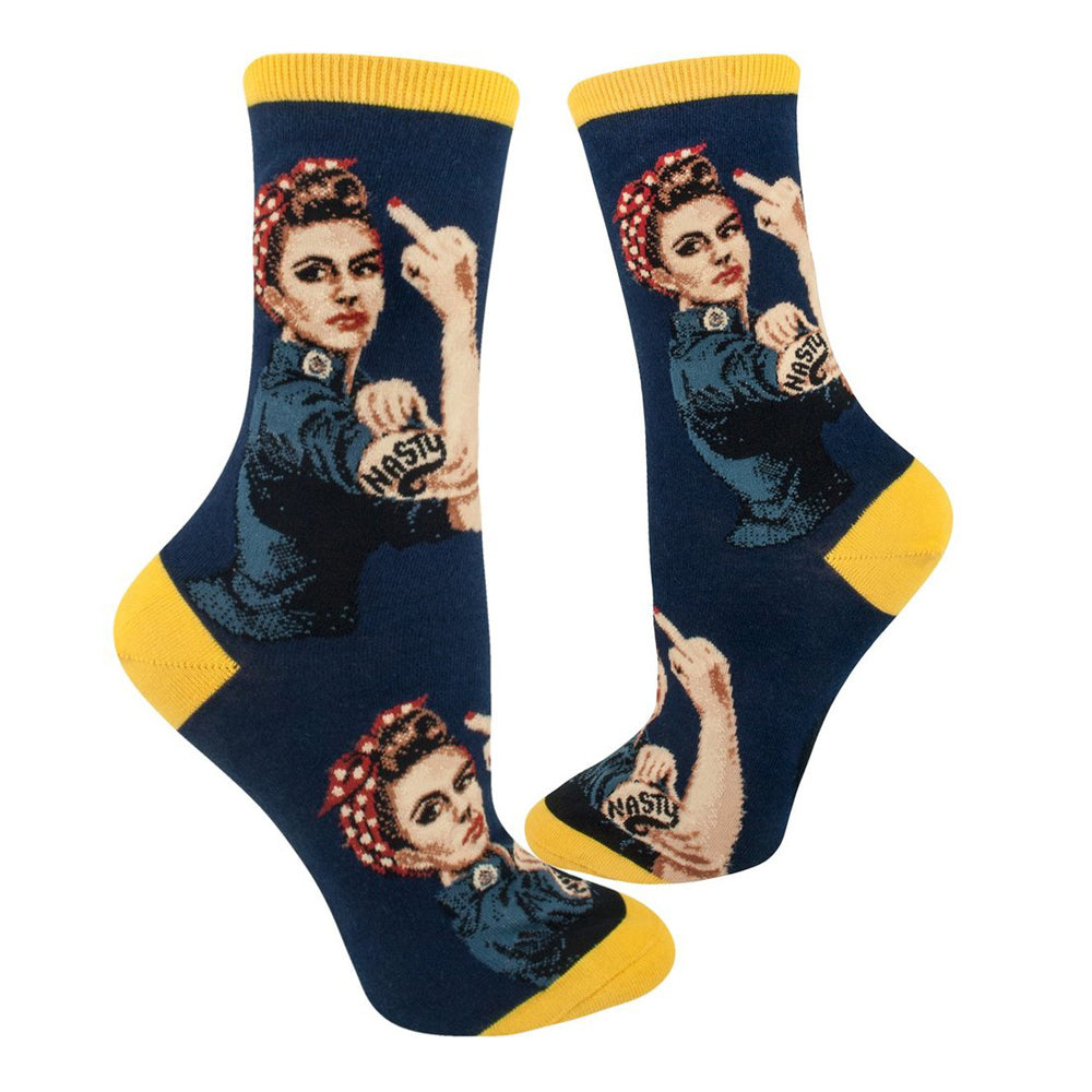 NASTY ROSIE THE RIVETER SOCKS