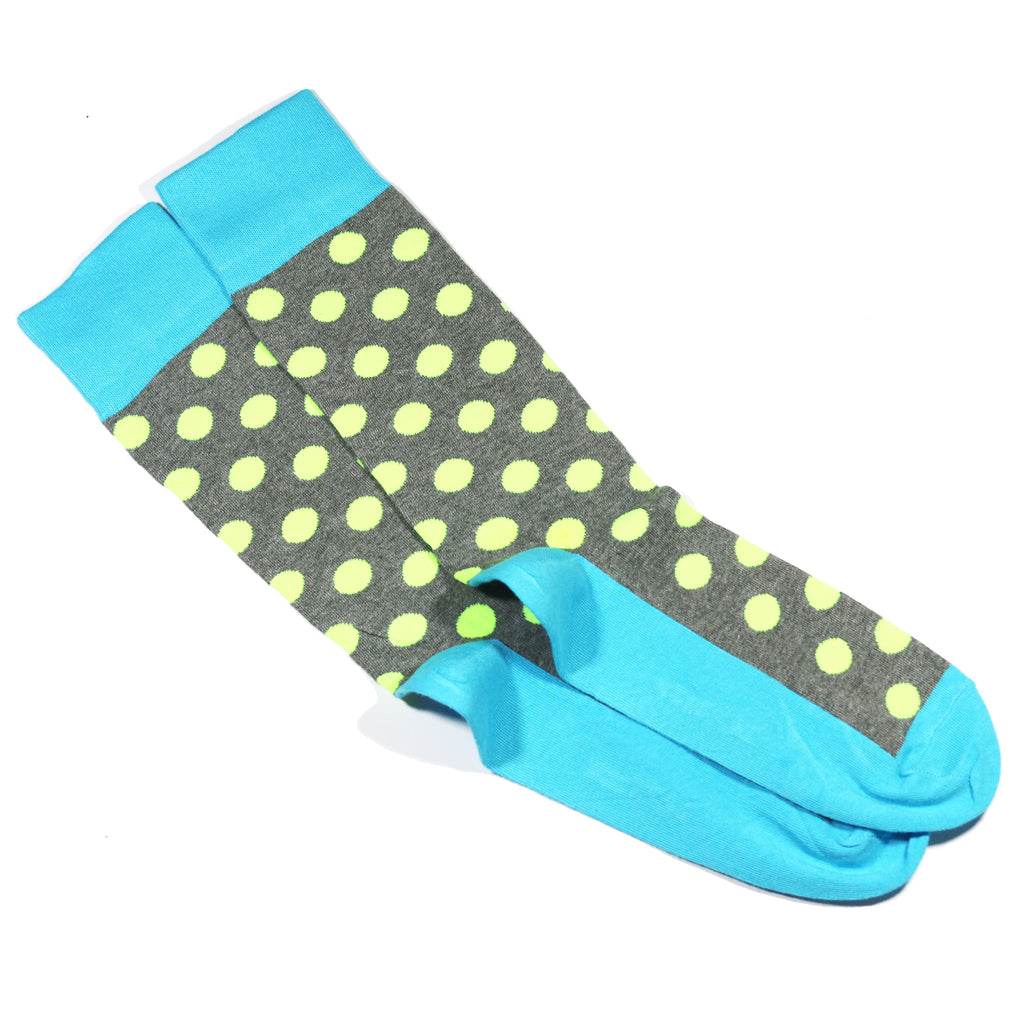 NEON POLKA DOT SOCKS