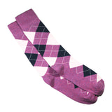 PURPLE CUSHIONED ARGYLE SOCKS