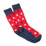 RED STAR PRINT SOCKS