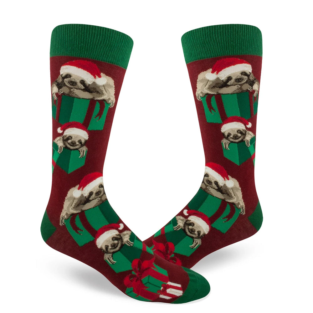 SANTA SLOTH SOCKS