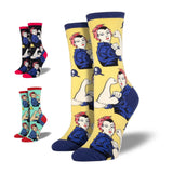 ROSIE THE RIVETER SOCKS