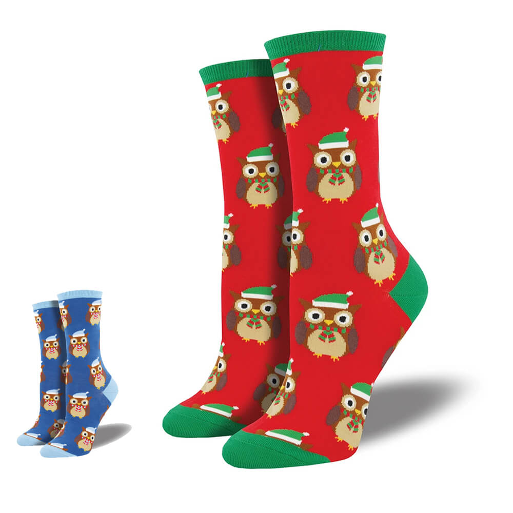 OWL READY FOR CHRISTMAS SOCKS