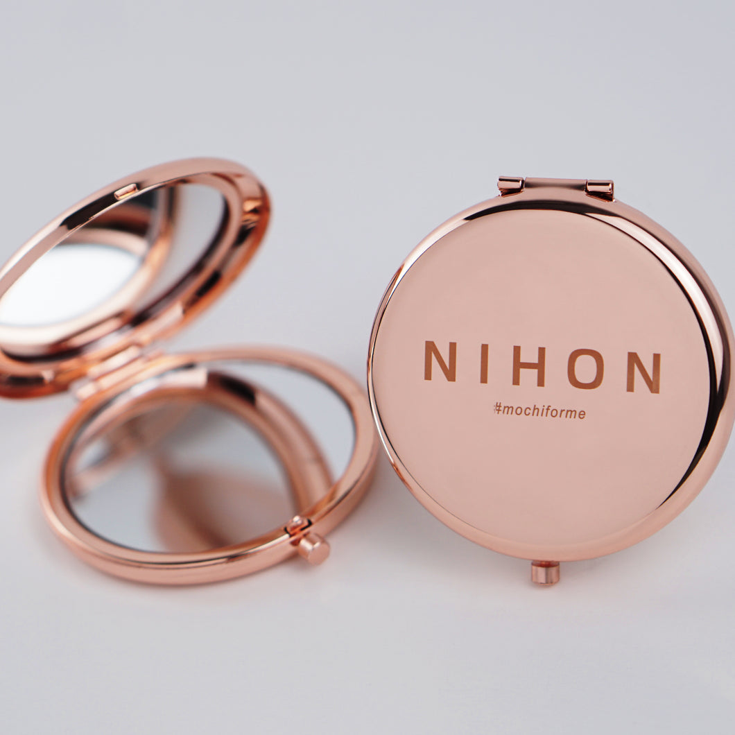 NIHON Exclusive Compact Mirror - Rose Gold