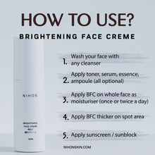 Load image into Gallery viewer, Brightening Face Creme (Travel Pack)