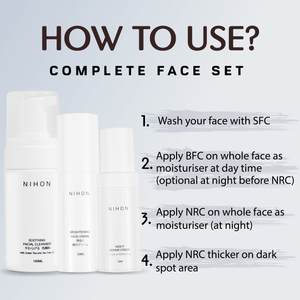 Complete Face Set (Cleanser, Brightening Face Creme & Night Repair Creme) - Travel Set