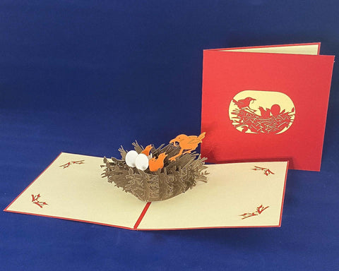 Tian's Gifts: Birds Nest 'Pop Up' Greetings Card