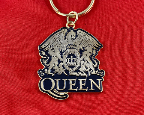 Let it Be - Music Merch: Queen Gold Crest Metal Key Ring