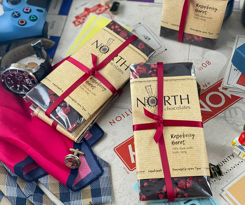 Northern Delicious: North's Dark Chocolate Bar 'Raspberry Beret'