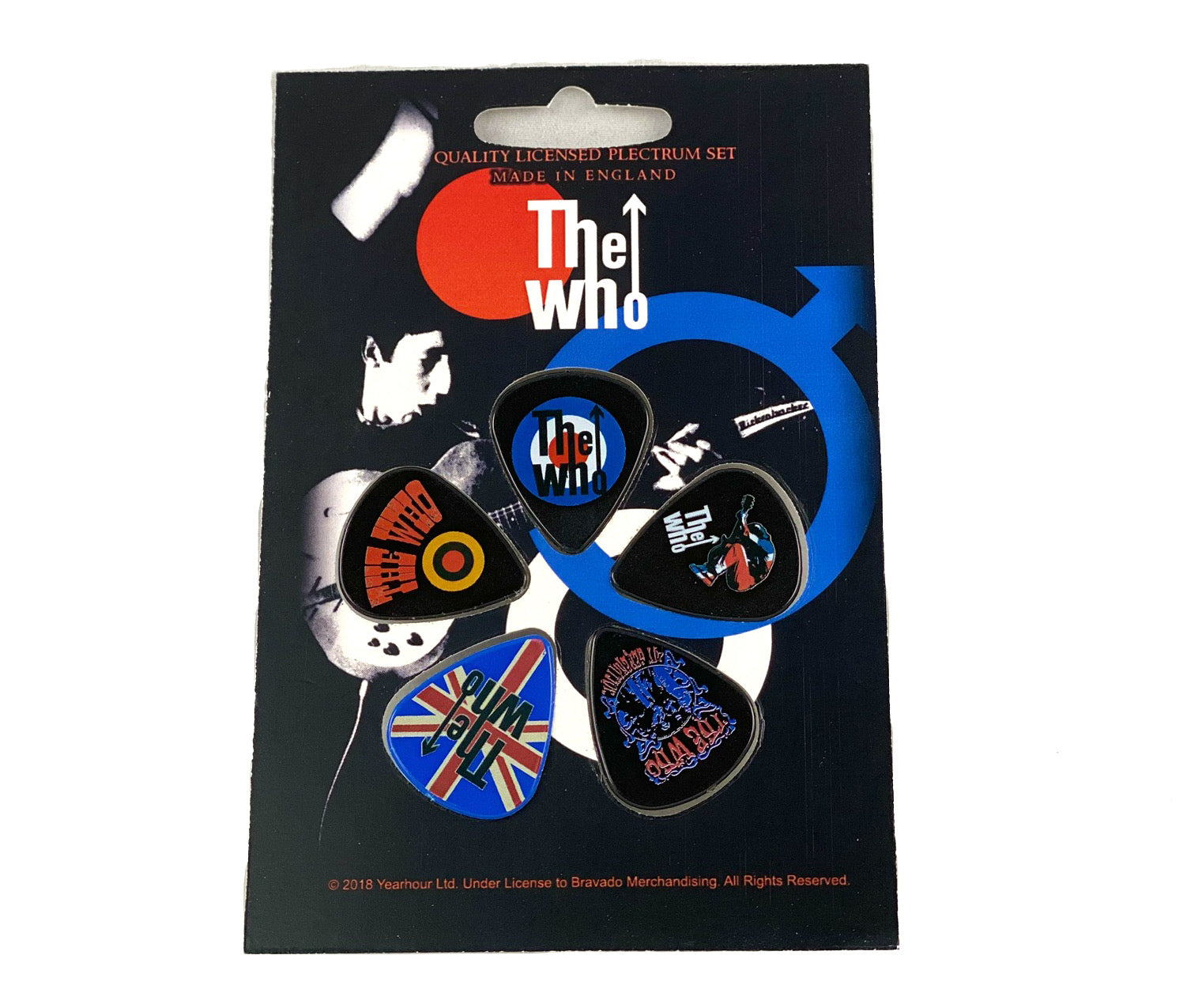 Let it be - Music Merch: THE WHO  Guitar 'Plectrum'  set of 5 - THE WHO Official Merch