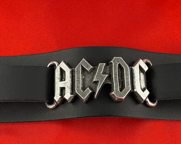 Let it Be - Music Merch: AC/DC Metal Logo Leather Strap