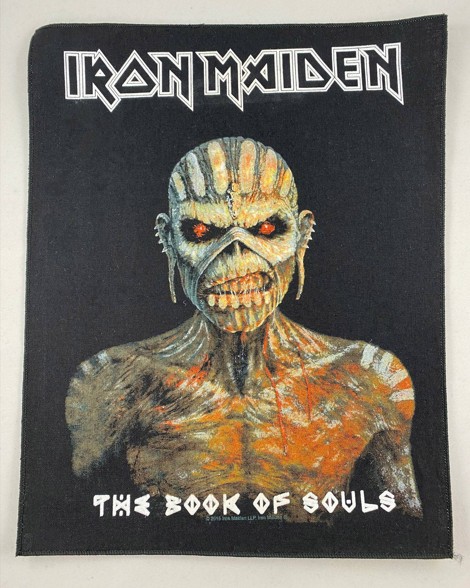 Let it Be - Music Merch Iron Maiden Sew On Cotton Jacket Back Patch - Book of Souls