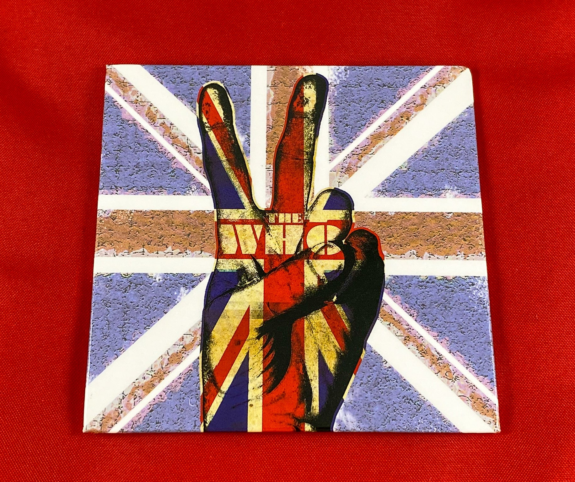 Let it be - Music Merch: THE WHO 'PEACE FINGERS' Fridge Magnet - THE WHO Official Merch