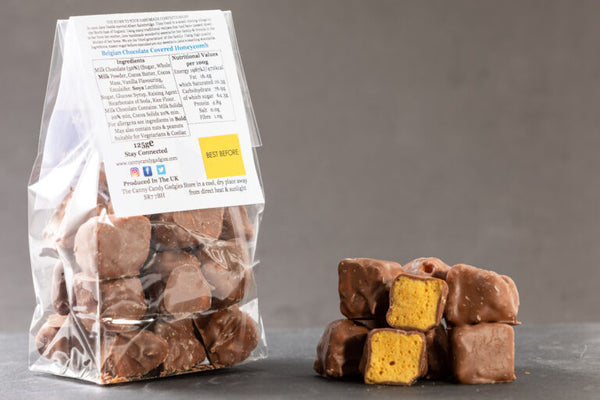 Northern Delicious : The Canny Candy Gadgies Belgian Milk Chocolate Covered Honeycomb