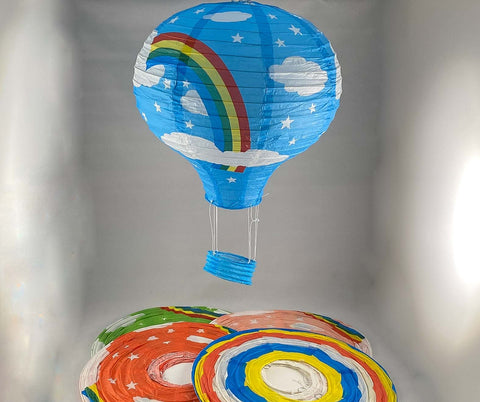 Tians' Gifts:  Paper Balloons - Rainbow