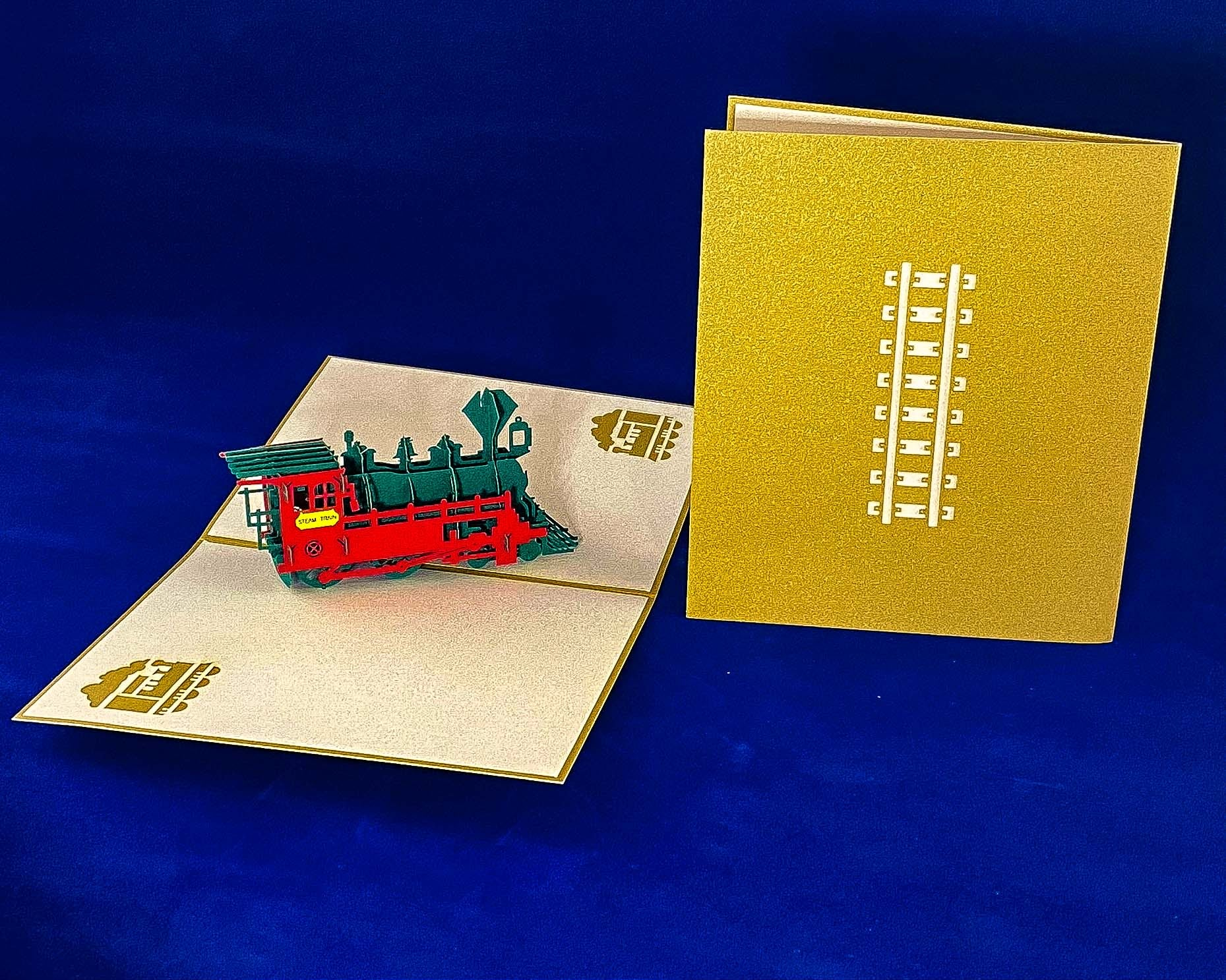 Tian's Gifts: Train 'Pop Up' Greetings Card