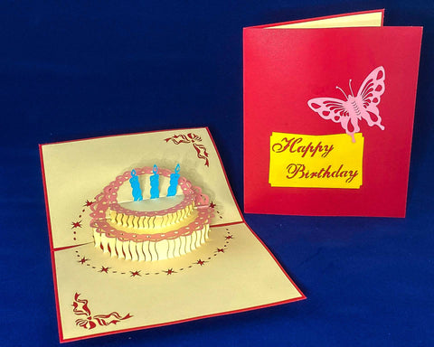 Tian's Gifts: Red 'Pop Up' Birthday Card