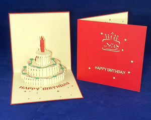 Tian's Gifts: Red Pop Up Birthday Card