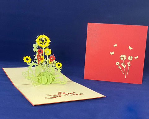 Tian's Gifts: SunFlower 'Pop Up' Greetings Card