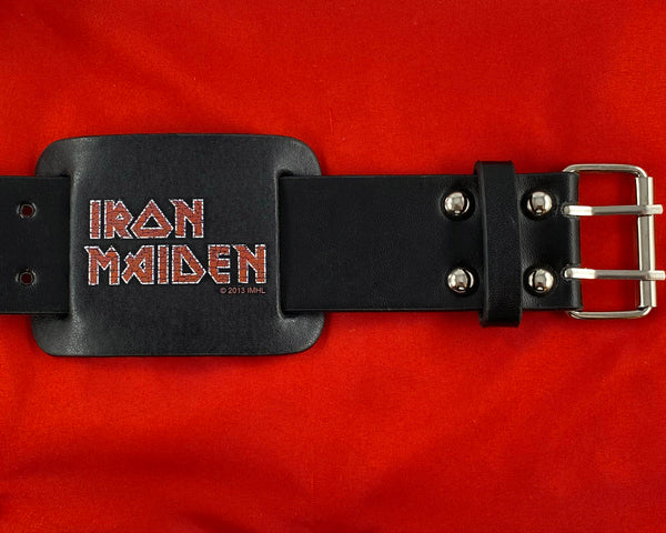 Let it Be - Music Merch: Iron Maiden Black printed leather Wrist Strap
