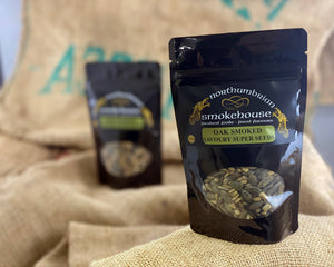 'Northern Delicious' : Northumbrian Smokehouse  ' Oak Smoked Savoury Super Seeds'