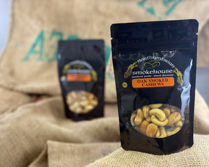 'Northern Delicious' : Northumbrian Smokehouse  ' Oak Smoked Cashew Nuts'