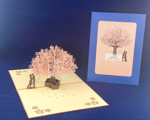 Tian's Gifts: Cherry Blossom 'Pop Up' Greetings Card