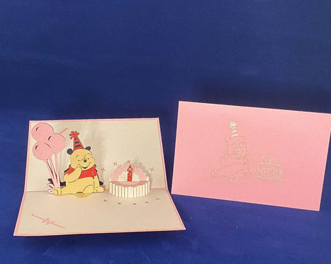 Tian's Gifts: 'Winnie the Pooh' Characters 'Pop Up' Birthday Card