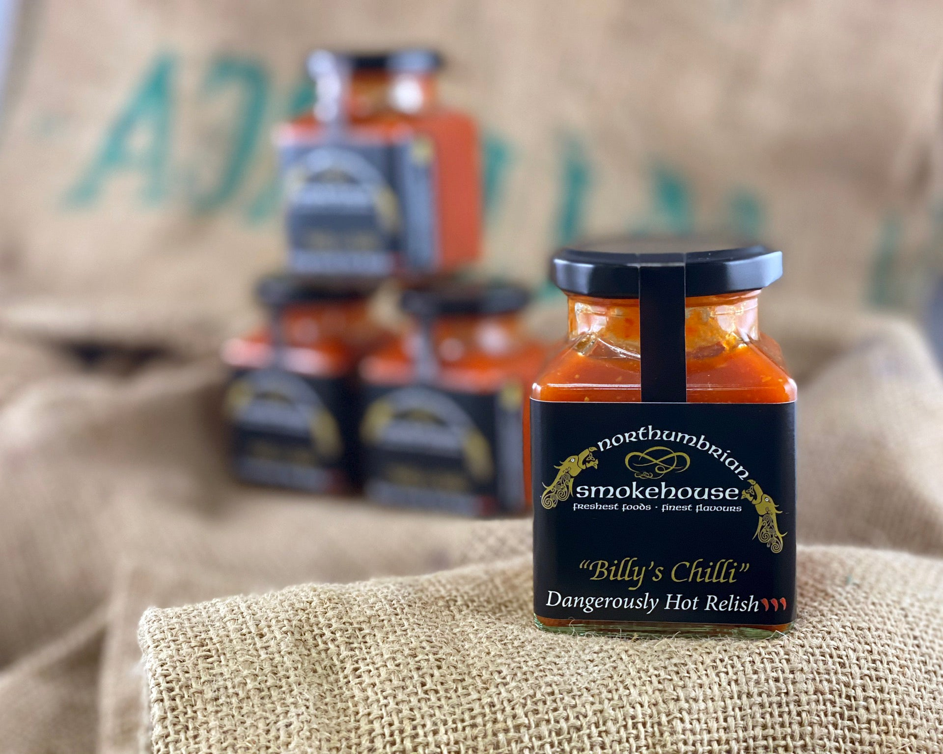 'Northern Delicious' : Northumbrian Smokehouse  ' Billy's Chilli Dangerously Hot Relish'