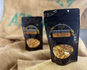 'Northern Delicious' : Northumbrian Smokehouse  ' Oak Smoked Peanuts''
