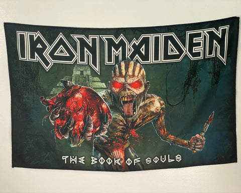 Let it Be - Music Merch: Iron Maiden Textile Poster - Book of Souls
