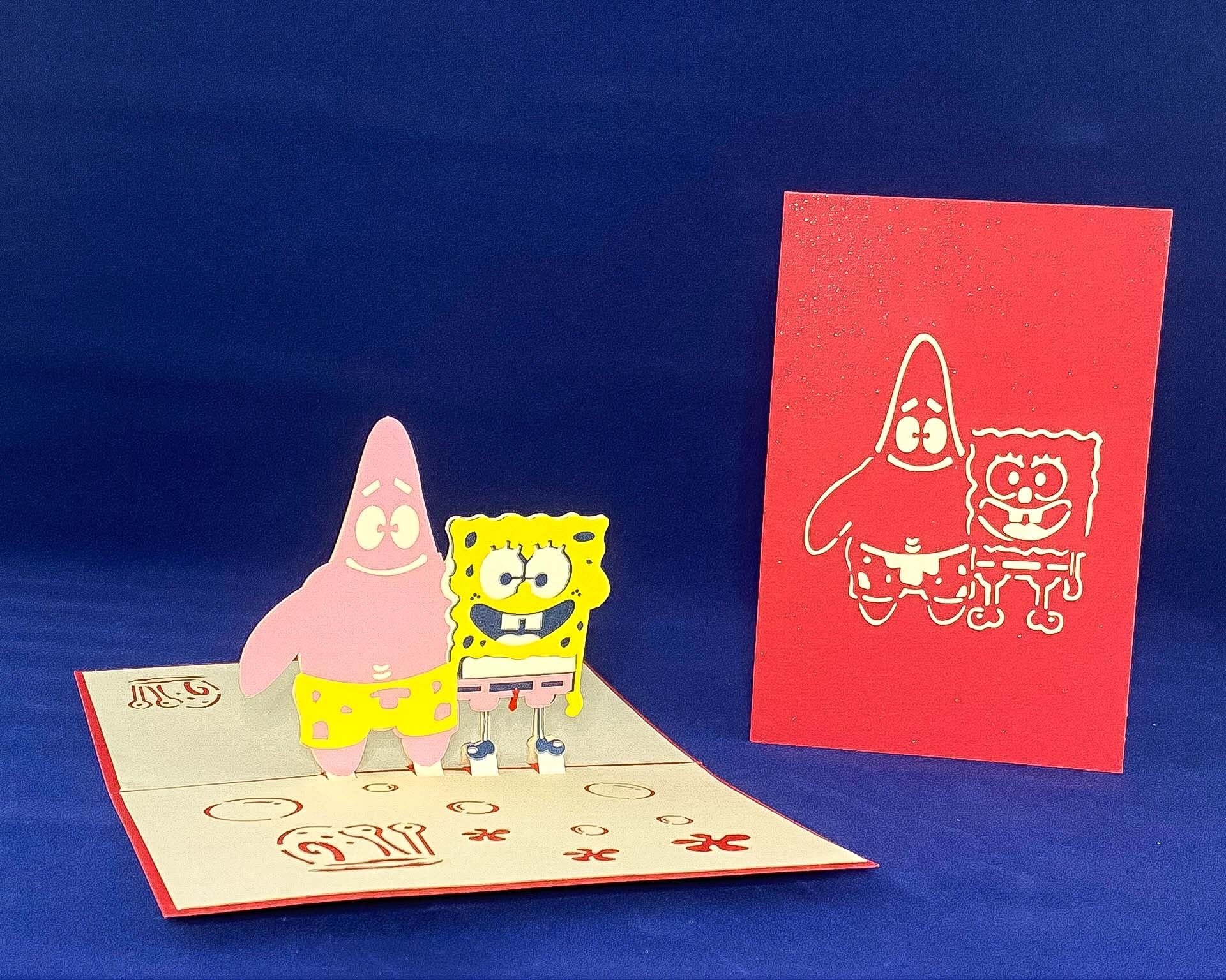 Tian's Gifts: 'Sponge Bob' Characters 'Pop Up' Greetings Card