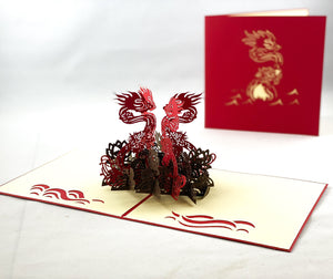 Tian's Gifts: Imperial Dragon 'Pop Up' Greetings Card