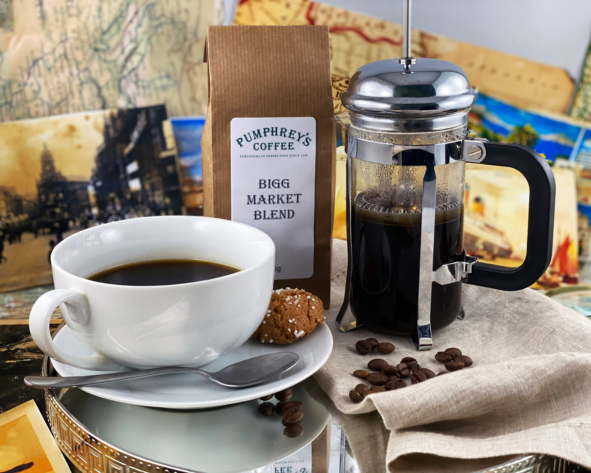 Pumphreys : Bigg Market Blend  - Ground Coffee ( For Percolators & cafetière)