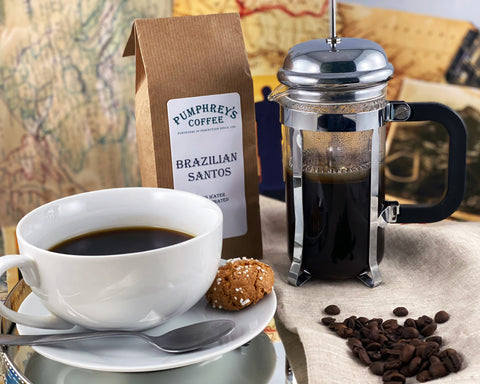 Pumphreys : Brazilian Santos - Ground Coffee ( For Percolators & cafetière)