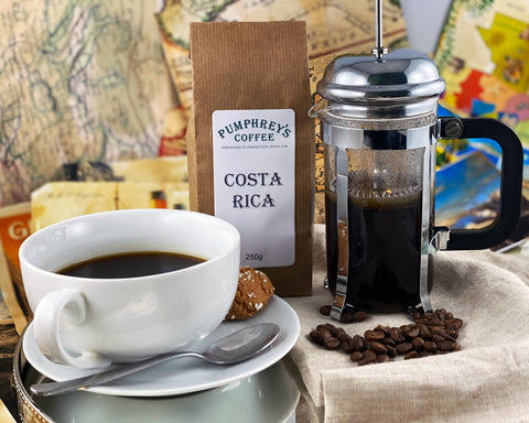 Pumphreys :  Costa Rica  - Ground Coffee ( For Percolators & cafetière)