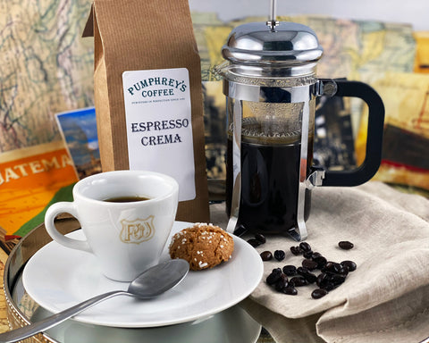 Pumphreys :  Espresso Crema - Ground Coffee ( For Percolators & cafetière)