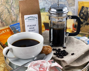 Pumphreys : Italian High Roast -  Ground Coffee ( For Percolators & cafetière)