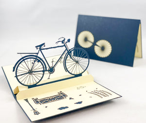 Tian's Gifts:  Bicycle 'Pop Up' Greetings Card