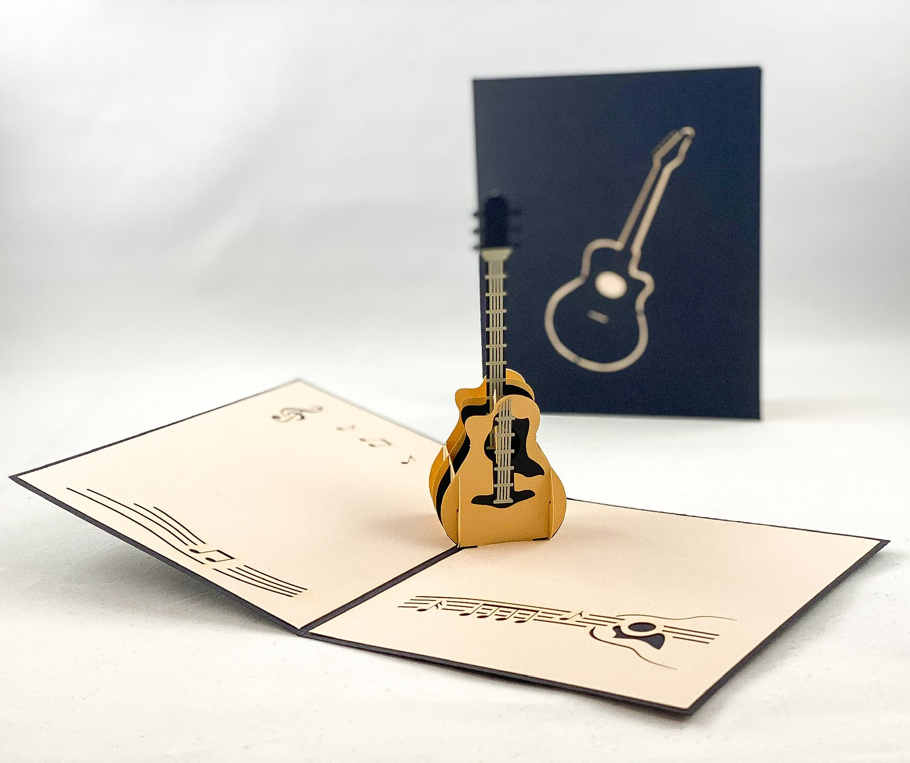 Tian's Gifts:  Guitar 'Pop Up' Greetings Card