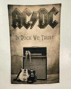Let it Be - Music Merch: AC/DC textile poster - In Rock We Trust