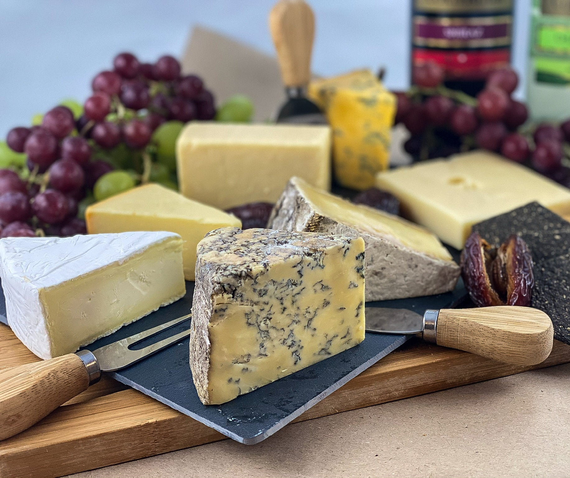 Matthews Cheese - Luxury English Cheese Board , Gift wrapped on Slate